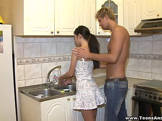kitchen, assfucked, , , ,