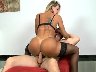 tranny, luscious, gets, asshole, screwed,