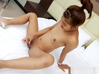 tgirl, petite, marjay, loves, pleasure, milking