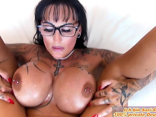 milf, german, tits, boobs, fucks, oil