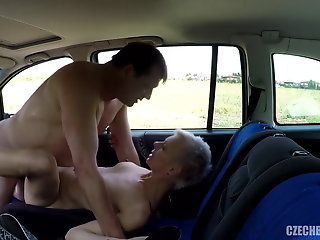 hooker, older, fucked, car, rubber,