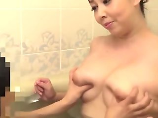 japanese, mature, mother, playing, boys,
