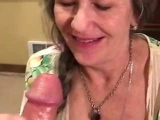 granny, perfect, swallows, cum, ,