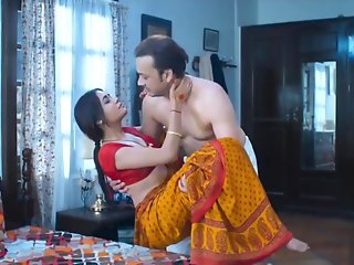 homemade, wife, sex, red, saree, full