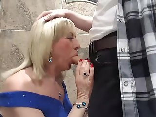 pauline, tgirl, gagging, mikes, cock, club