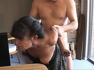 tiny, turned, mexican, granny, maid, anal