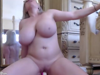 boobs, huge, slut, wife, riding, dildo